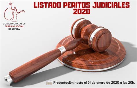 Listado de Peritos Judiciales 2020 | Colegio Oficial de ...