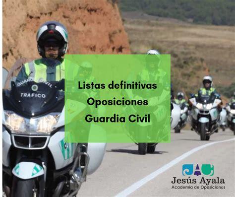 Listados definitivos admitidos/as oposiciones Guardia ...