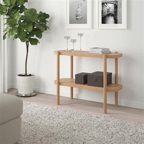 LISTERBY Consola   velatura branca carvalho   IKEA
