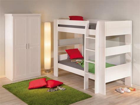 Litera cama de pino lacada en color blanco para jóvenes y ...
