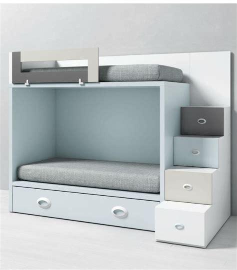 Litera dado infantil con escalera para cama nido