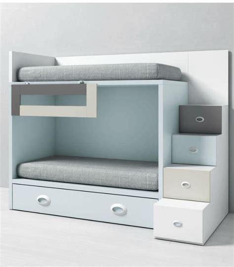 Litera infantil DADO con cama nido y escalera lateral ...
