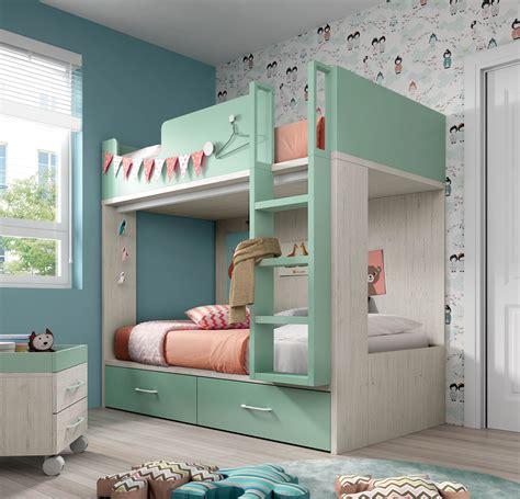 literas para habitaciones con poco espacio | Bunk beds for ...