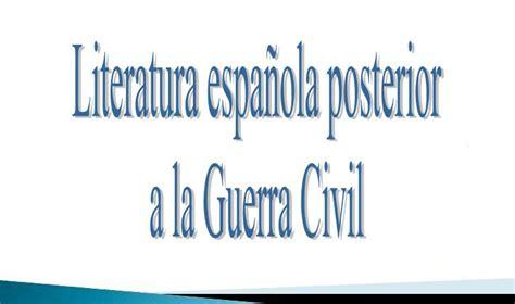 Literatura española posterior a la Guerra Civil ...