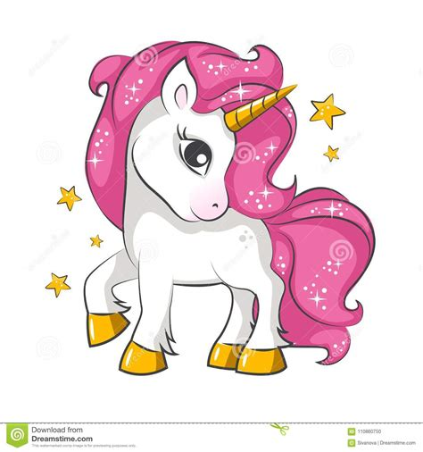Little Pink Unicorn. Design For Children. Stock Vector ...