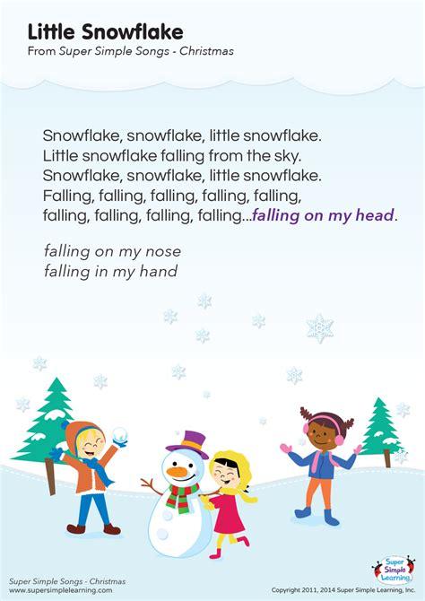 Little Snowflake Lyrics Poster | Super Simple