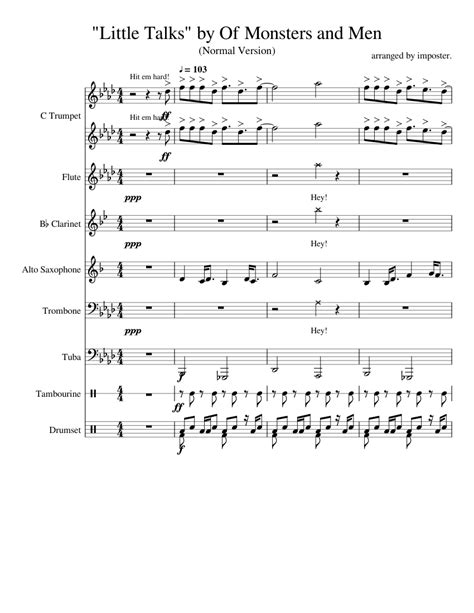 Little Talks by Of Monsters and Men sheet music for Flute ...
