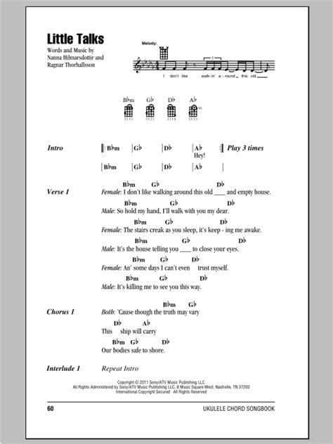 Little Talks   Sheet Music Direct