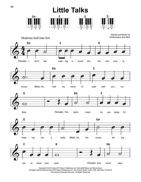 Little Talks Sheet Music   Of Monsters And Men   Super ...