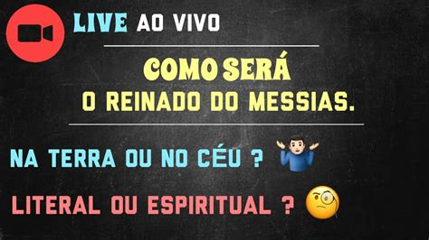 LIVE AO VIVO : MILÊNIO   O reinado do Messias .   YouTube