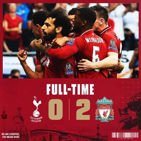 Liverpool derrotó 2 0 al Tottenham y se coronó campeón de ...