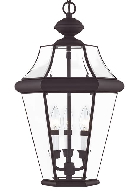 Livex Lighting Georgetown 3 Light Outdoor Chain Lantern ...