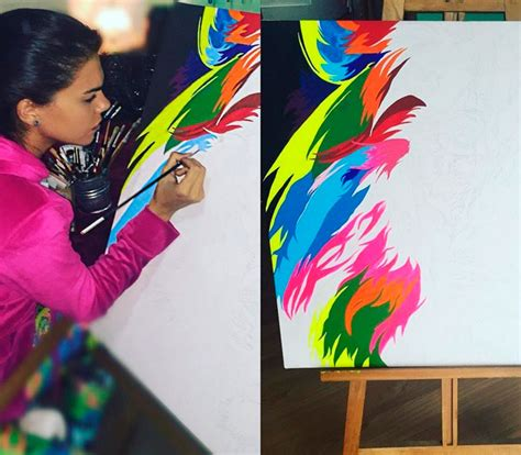 Livia Brito confiesa su pasión por la pintura