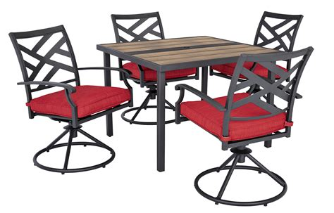 Living Accents 8497794 5 pc. New Castle Dining Set Red ...