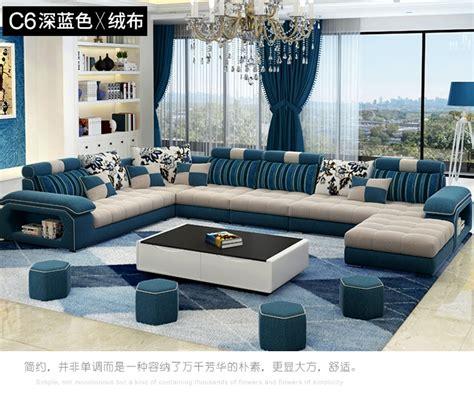 Living Room Sofa set Home Furniture modern linen hemp ...