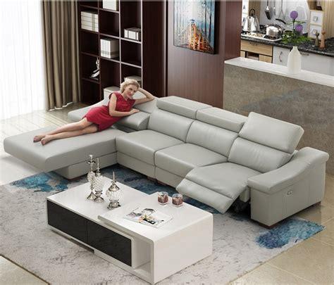 Living Room Sofa set L corner sofa recliner electrical ...