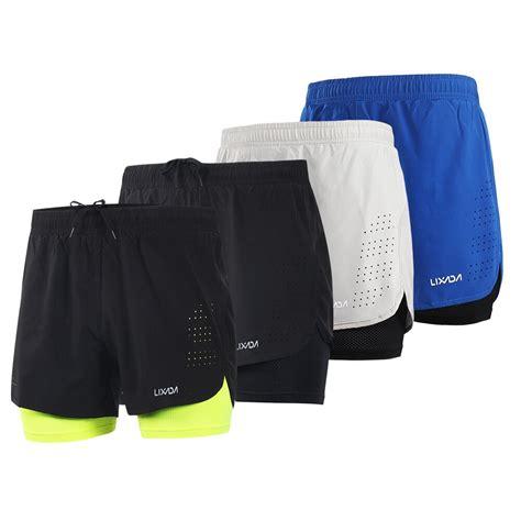 LIXADA Men 2 in 1 Running Shorts Quick Drying Breathable ...