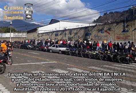 LO MEJOR DE AMATITLÁN: Masiva respuesta a FERIA DEL EMPLEO ...