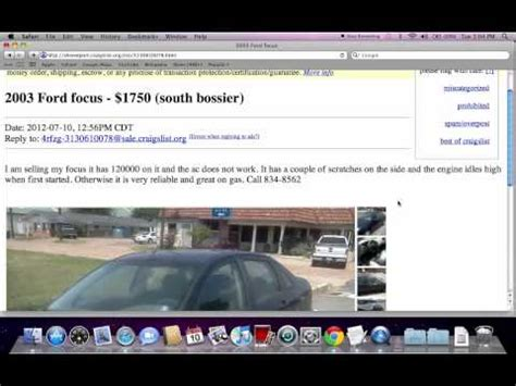 Local Craigslist Used Cars for Sale   YouTube