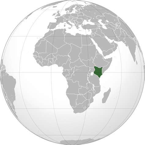 Location of the Kenya in the World Map