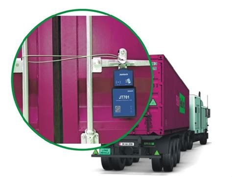 Lock The Container For Security Control By Electronic ...