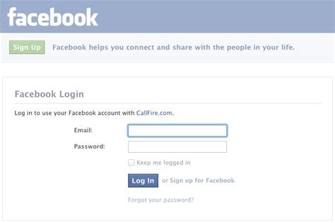 Log in with Facebook | CallFire