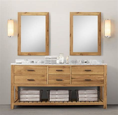Logan double vanity reclaimed white oak | Ideas ...