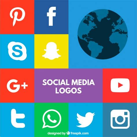 Logos de redes sociales coloridos | Descargar Vectores gratis