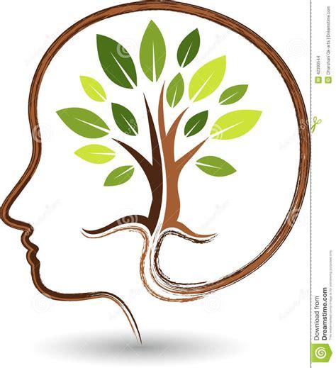 Logotipo de la mente del árbol Stock Vector   Imagen ...