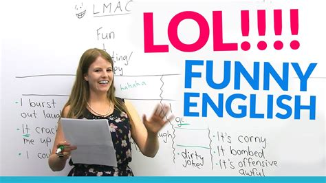 LOL!! Learn English vocabulary about JOKES: hilarious ...