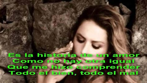 Lola Ponce   La historia de un amor Letra    YouTube