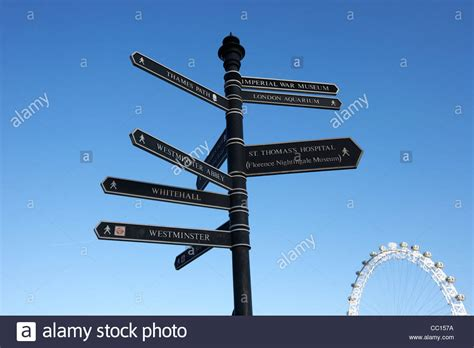 London tourist information walking directions sign ...