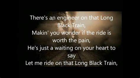 Long Black Train with lyrics   YouTube