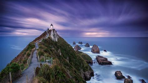 Long Exposure Photo of Nugget Point Lighthouse New Zealand ...