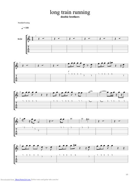 Long Train Running guitar pro tab by Doobie Brothers ...