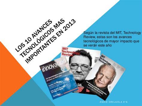 Los 10 avances tecnológicos mas importantes en 2013