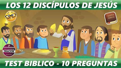 LOS 12 DISCÍPULOS DE JESÚS    TEST BIBLICO   PARTE 1 ...