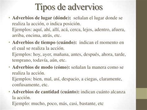 Los adverbios  1