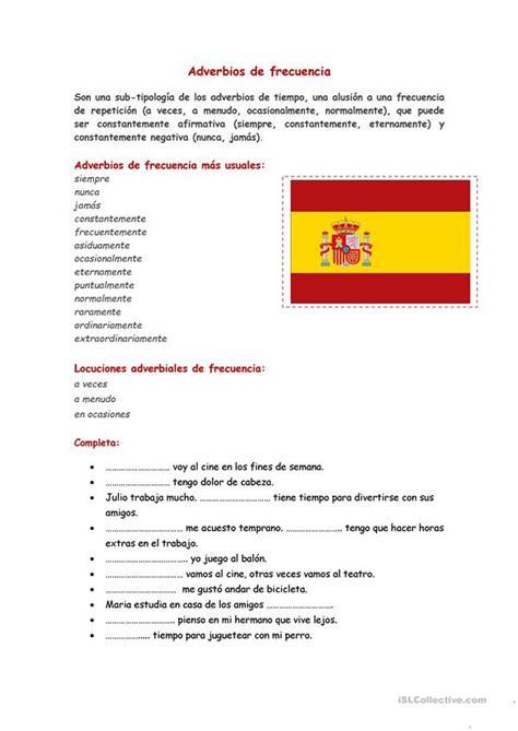 Los adverbios de frecuencia worksheet   Free ESL printable ...
