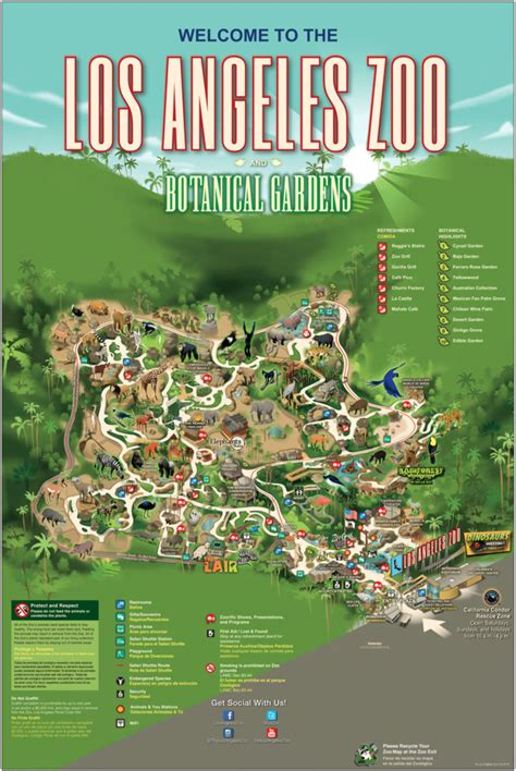 Los Angeles Zoo and Botanical Gardens   Zoo Map # ...