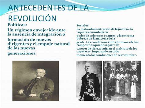 Los antecedentes de la REVOLUCIÓN MEXICANA   ¡¡RESUMEN corto!!