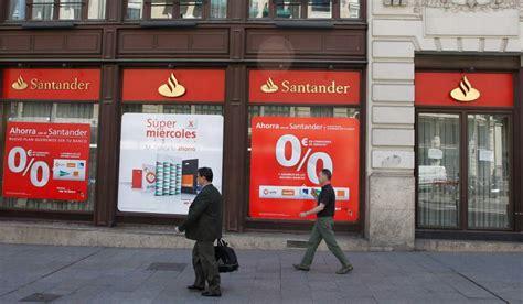 Los beneficios del Banco Santander caen un 51% en el ...