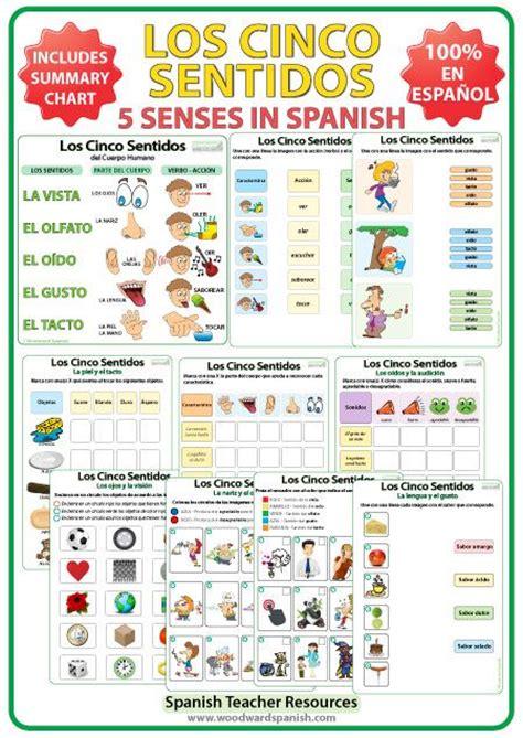 Los Cinco Sentidos   Ejercicos y actividades en español ...