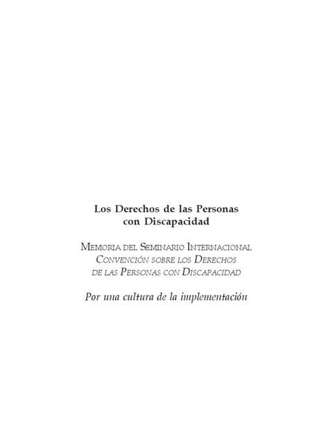 Los Derechos de las Personas con Discapacidad | Convenio ...