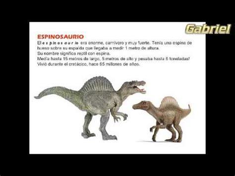 Los dinosaurios | Informacion Especial   YouTube