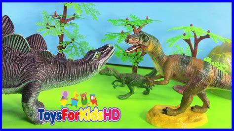 Los Dinosaurios para niños Allosaurus v/s Stegosaurus ...