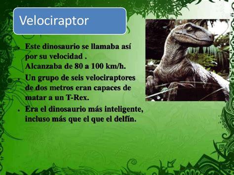 Los dinosaurios y su historia.