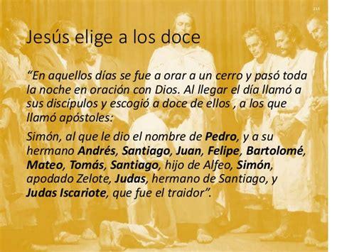 Los doce Apóstoles de Jesús