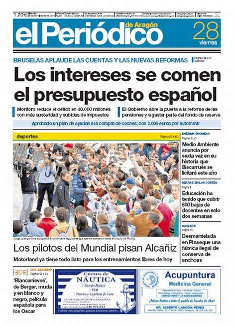 Los intereses se comen el presupuesto español , portada ...