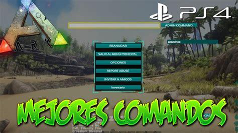 LOS MEJORES COMANDOS PARA ARK: Survival Evolved PS4   YouTube